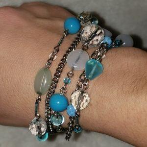 Lia Sophia Blue Crush 5 strand bracelet